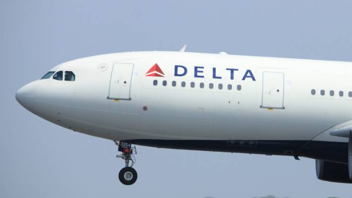 The daughter's pilot made Los Angeles a Delta flight to Atlántico (photo file).