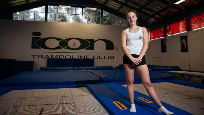 Sienna French, 13, completed his final trampolining training on 8 November before leaving for the world's trampoline championships in Russia.