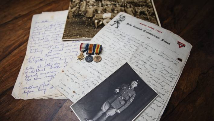 Lowndes, promoted to Company Sergeant Major, wrote to his father on Armistice Day, telling of his longing for home in Gisborne.