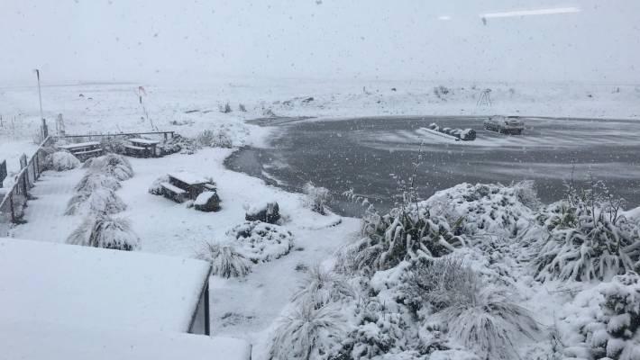 fb301ec22bff9 Snow at Tekapo Airport.