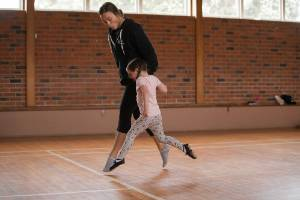 Sophie Harvey, 4, takes Irish dancing, swimming and athletics classes each week.