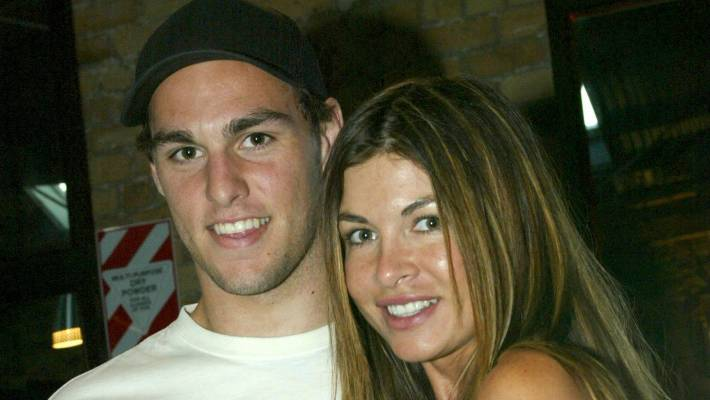 Mannering and former girlfriend Nicky Watson in 2005.