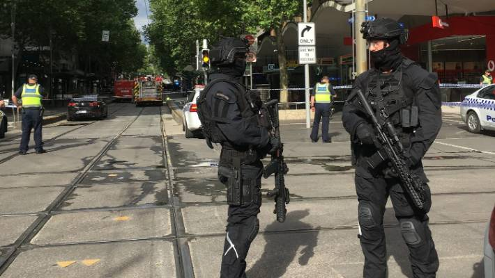 Anti-terror police were called into action.