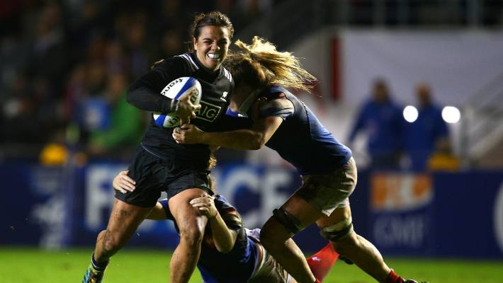 First five-eighth Ruahei Demant and the Black Ferns eventually had reason to smile against France in Toulon.