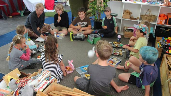 Every morning around 10am, students come together for a kōrero to plan the day ahead.