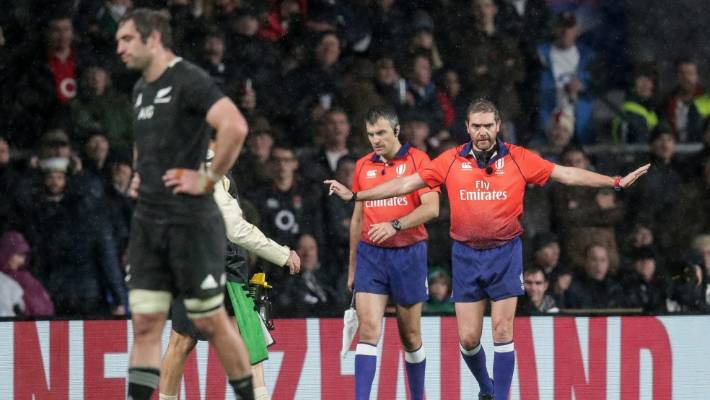 Referee Jerome Garces rules out a possible victory for England against All Blacks.