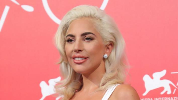 Lady Gaga attends A Star Is Born's photos during the 75th Venice Film Festival