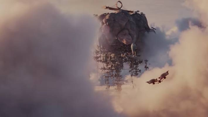 Mortal Engines' production is about how the movie looks, with a wonderful 1000 year-old landscapes in the future.
