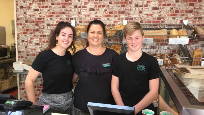Fitzroy's Piccolo Morso Leipomo staff from the left Bella Rothwell, Louzette Wheeler and Max Smith said customers were excited to hear that a $ 12.5 million Lotto Powerball ticket was sold at New Plymouth.