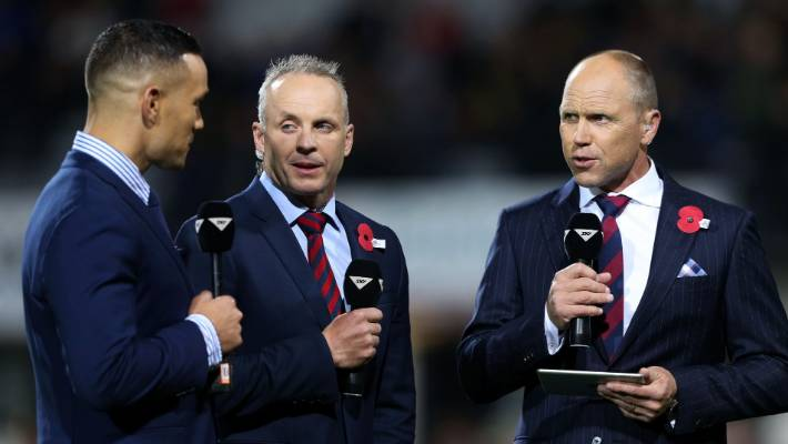Jeff Wilson, yes, right before the Super Rugby match with Sky Sports critics Tamati Ellison and Christian Cullen.