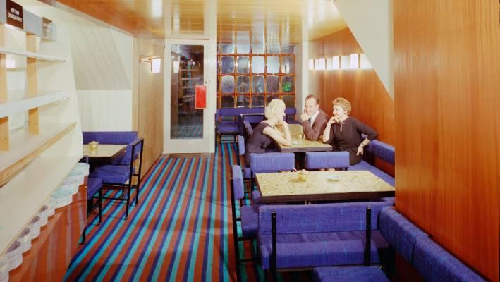 The Suzi van der Kvast tavern entered the coffin in the 1960s with its modern interior interior.