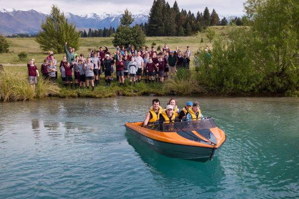 Twizel Area School's jetboat project officially launched and