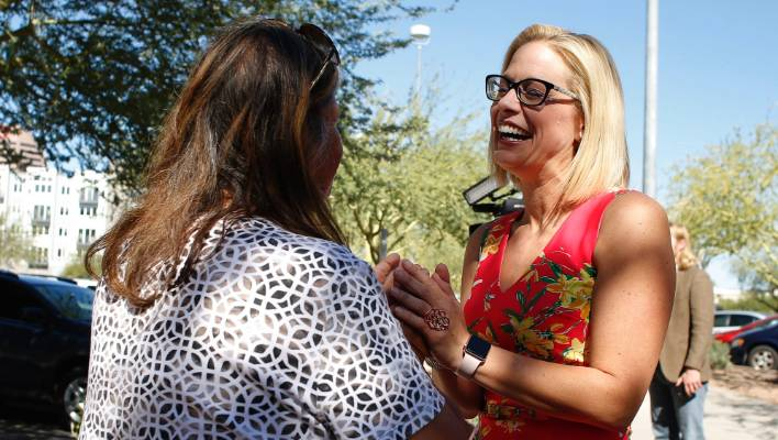 Out Candidate Kyrsten Sinema Declares