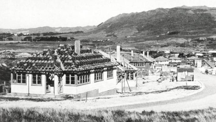 Some of the first state-owned buildings built at Titahi Bay in the late 1940s. Photo - Patak Museum of Arts and Culture.