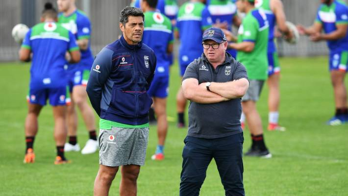 Stephen Kearney and Warrior's recruitment chief Peter Oull Sullivan threw his eyes over the clubs new signatures.