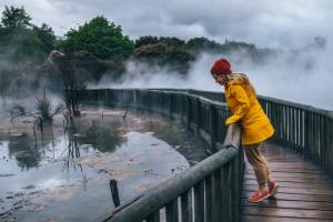 Kuirau Park is a free geothermal park right in the center of town.