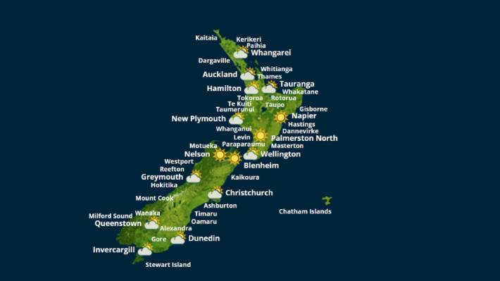 New Zealand Weather Map.Dramatically Climatically Different Picton Gets Own Weather Station