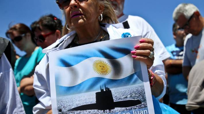 Argentina says submarine missing a year found deep in Atlantic