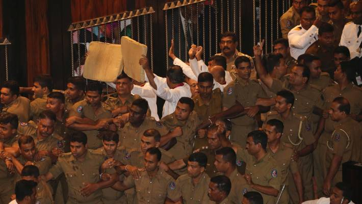 Sri Lanka parliament adjourned after just five minutes