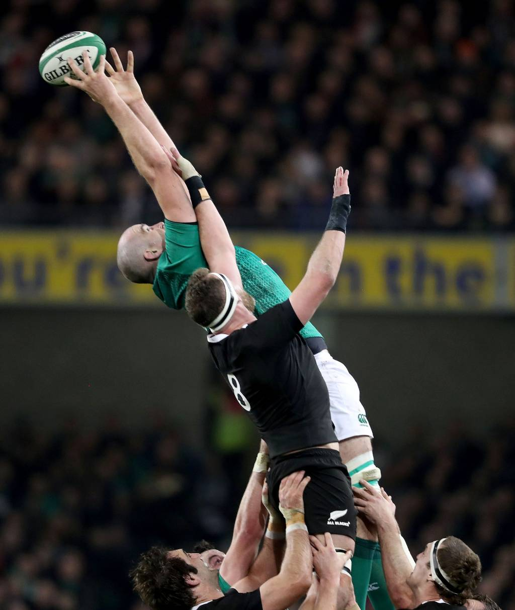 Kieran Read Of The All Blacks Takes A Lineout Ball: All Blacks V Ireland: All Blacks Upset By Ireland In