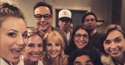 It may be their final season, but the Big Bang Theory cast is still all smiles.