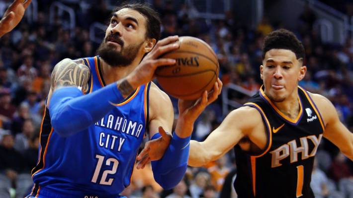 Oklahoma City Thunder centre Steven Adams notched a season-best 26 points  at the Phoenix
