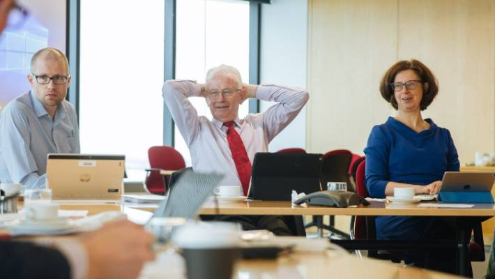 Sir Michael Cullen (in the middle) warned in September that the Tax Working Group may not reach a unanimous opinion.
