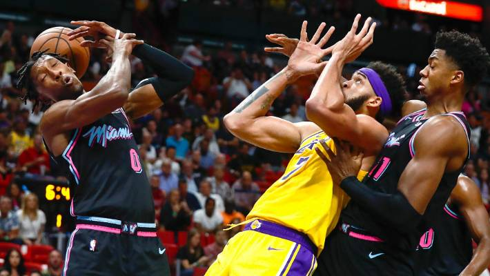 Miami Heat guard Josh Richardson had a night to forget against the Lakers.