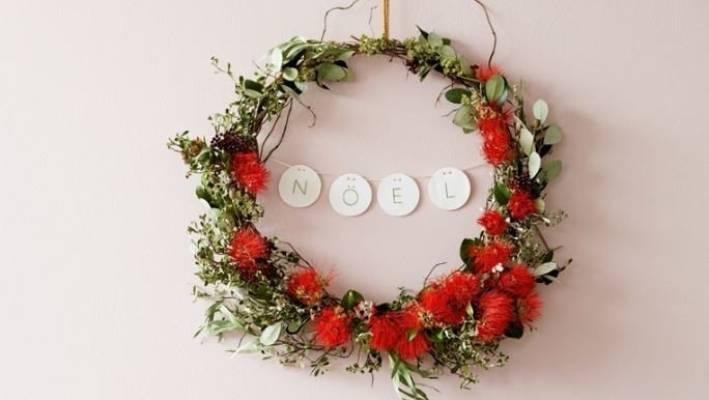 How To Make A Pōhutukawa Christmas Wreath Stuff Co Nz