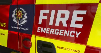 Fire crews responded to a bedroom fire in south Auckland on Tuesday. One person suffered moderate injuries.