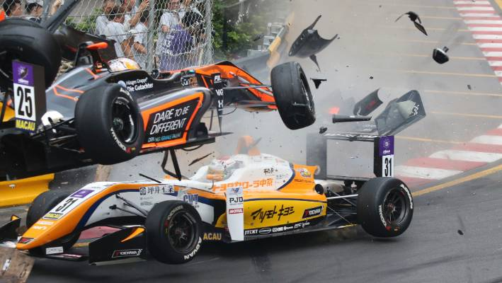 Teenage driver Sophia Floersch survives dramatic airborne crash in Formula 3 race