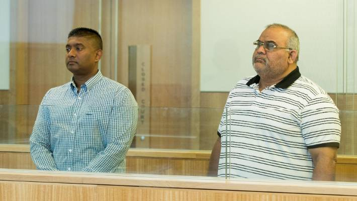 Daryl Govender and Mohammed Feroz are charged with taking bribes in exchange for driver's licences and are on trial at the Manukau District Court