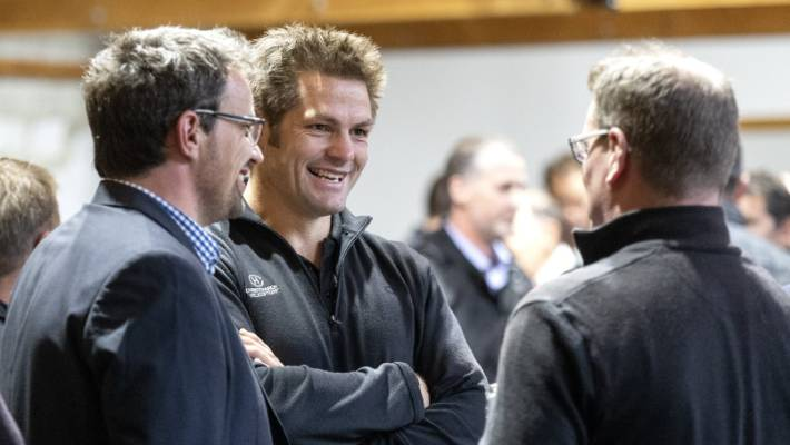 Richie McCaw was in South Canterbury for voice engagement representing Christchurch Helicopters.