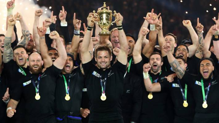 Richie McCaw admits that he just feels as if he is holding the Webb Ellis Cup at Twickenham in 2015 yesterday.