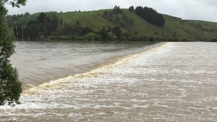 Flood in Henley, south of Dunedin, on Wednesday.