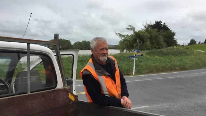 Employee SouthRoads Reg de Wagt says the flood around Balclut is pretty bad.