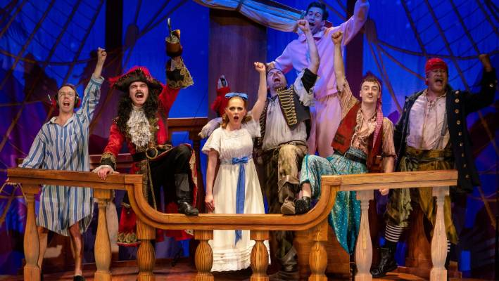 95ebfbff91d The cast of the hilarious pantomime Peter Pan Goes Wrong includes New  Zealander Jay Laga