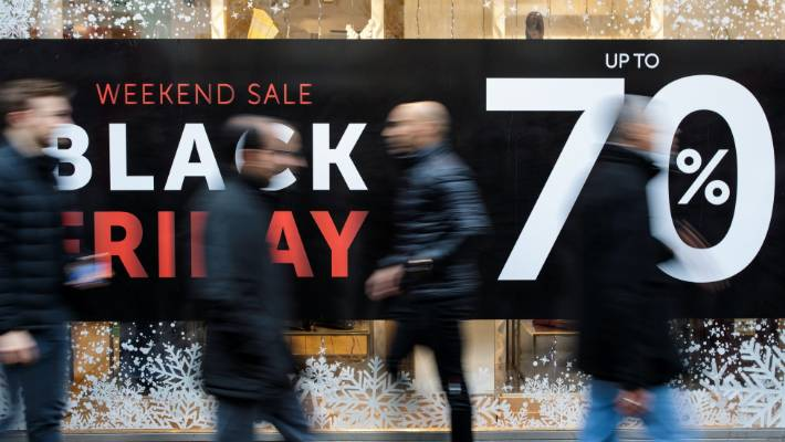 Spending at non-food retail shops through the country's electronic Paymark network was 54 per cent higher on November 23 than the Friday before.