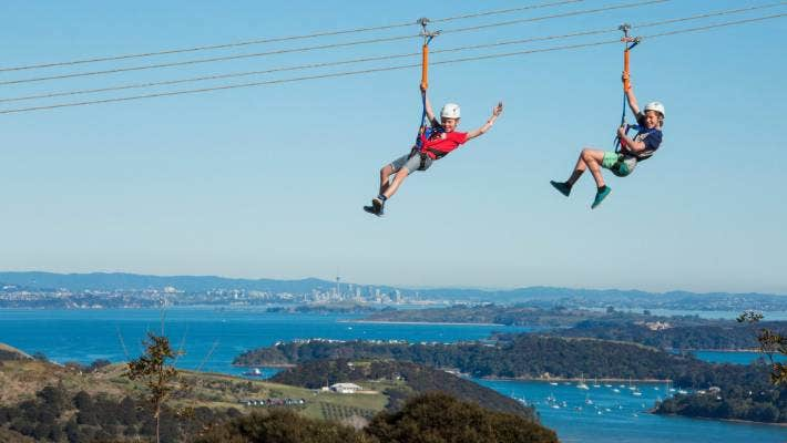 Conservation And Commercialism Zip Through The Skies Above Waiheke Island Stuff Co Nz