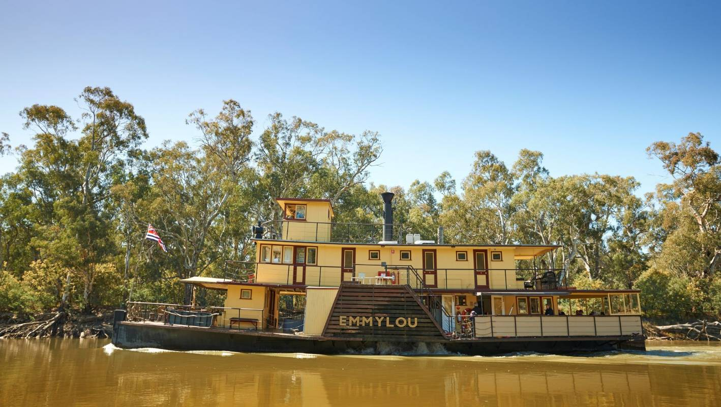 Newly refitted, luxury paddle steamer - the queen of Australia's