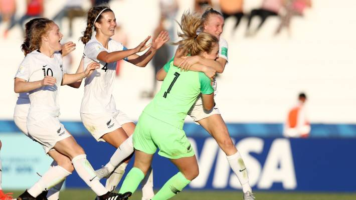 Hannah McKay-Wright relief after successful successful penalty jumped into Anna's arms.