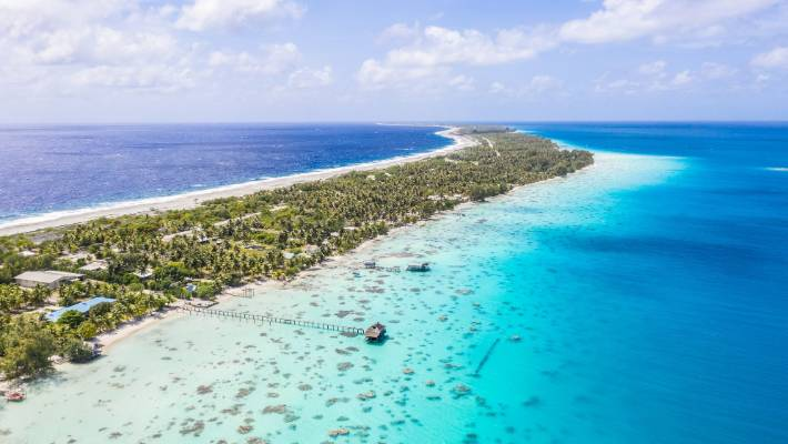 The Fakarava lagoon is huge, stretching more than 60km long and 25km wide.