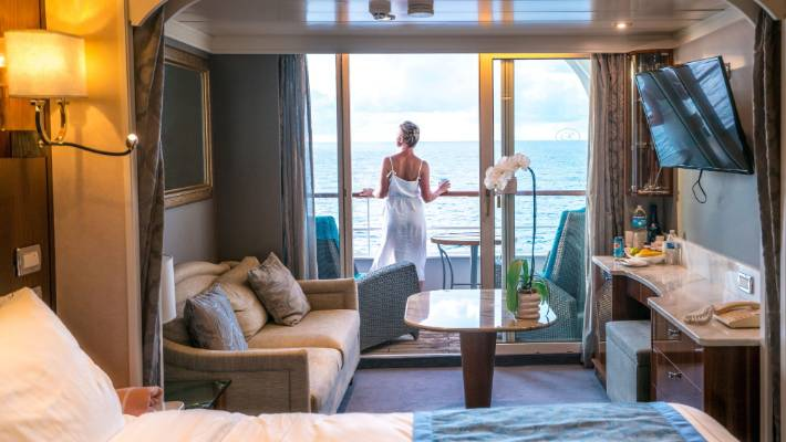 The rooms aboard Regent Seven Seas are some of the biggest on the sea.