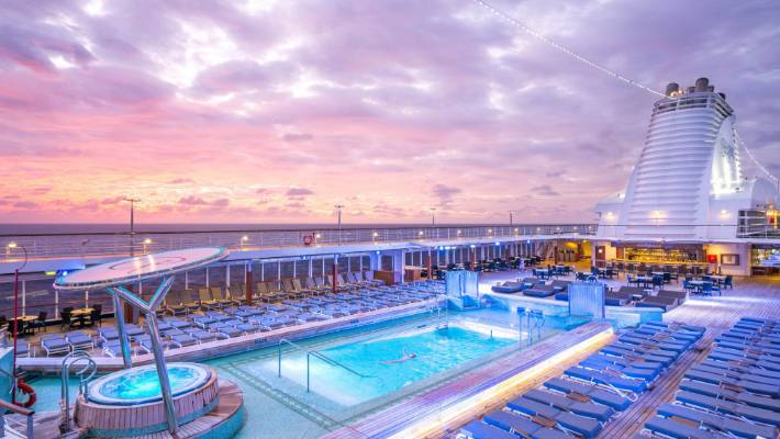 With four full days at sea to reach French Polynesia, there's plenty of time to enjoy the pool, spa and seven restaurants on the ship.