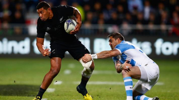 Charles Piutau in action for the All Blacks in 2015.