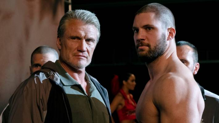 Dolph Lundgren and Florian Munteanu star in Creed II.