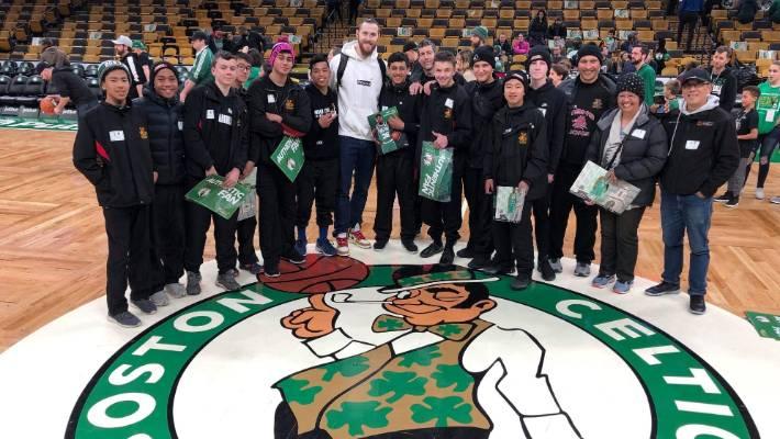 Hamilton Boys' High School junior premier basketball got to meet a few of the Celtic NBA players.