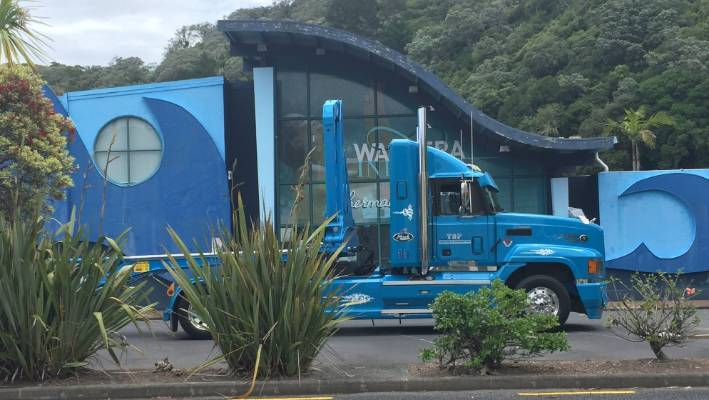 Trucks have been seen outside Waiwera hot pools