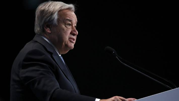 """""""In short, we need a complete transformation of our global energy economy,"""" said Antonio Guterres."""