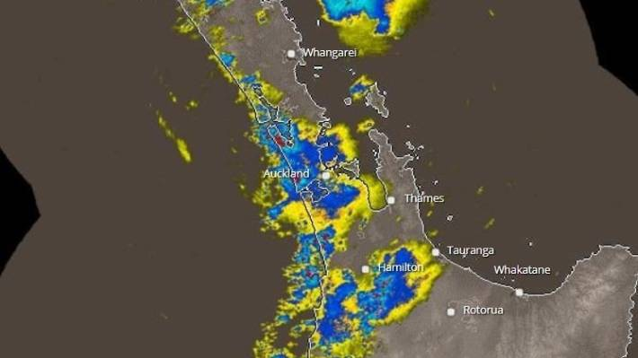 Rain and thunderstorms are expected across the top of the north island.
